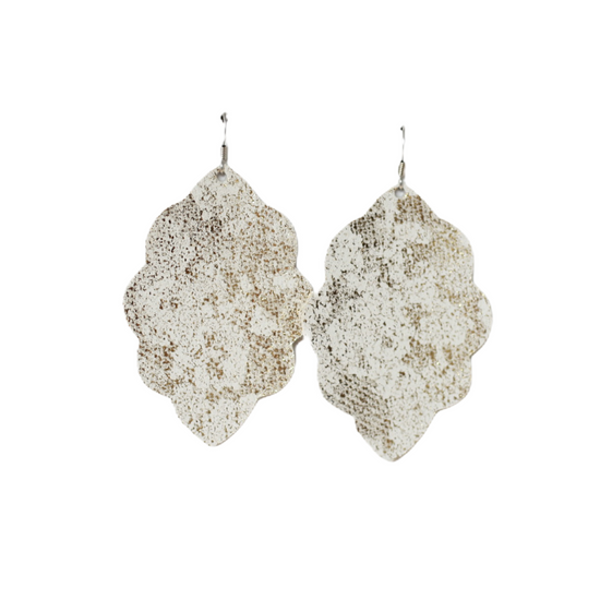 Tiramisu Large Solid Leather Earring