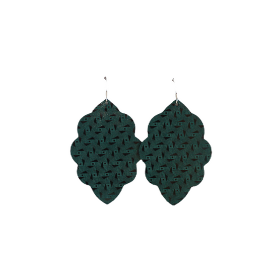 Juniper Large Solid Leather Earring