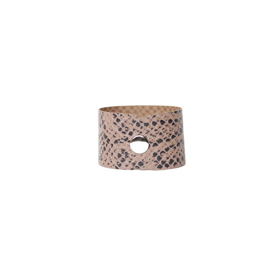 Stone Reptile Leather Cuff