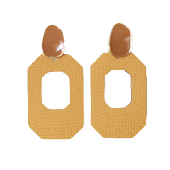 Mustard New York Leather Earring