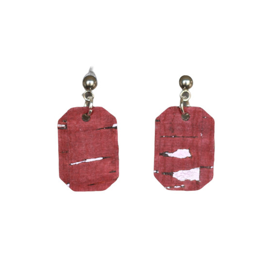 Berry Mini New York Leather Earring