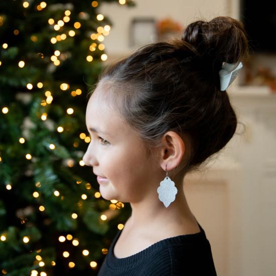 Snow White Signature Mini Leather Earring