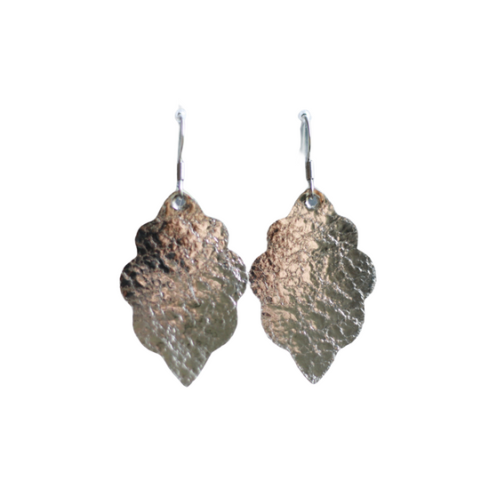Platinum Signature Mini Leather Earring