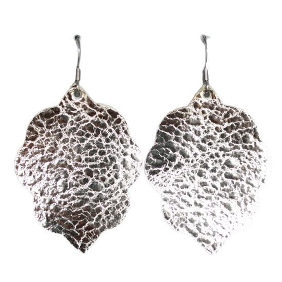 Platinum Small Leather Earring