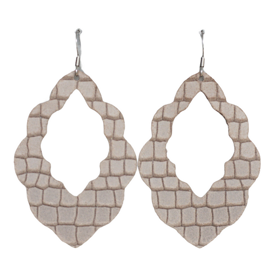 Almond Cut-Out Leather Earrings