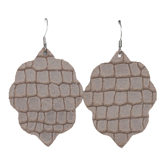 Almond Small Leather Earring