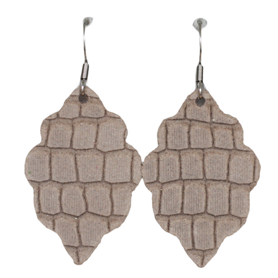 Almond Signature Mini Leather Earring