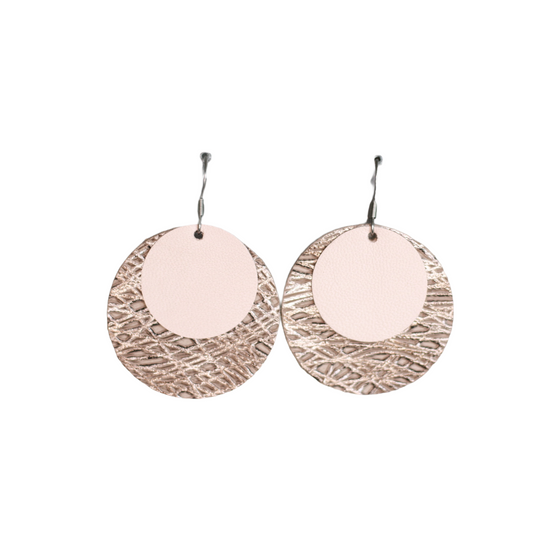 Blush Lux  Leather Halo Earring