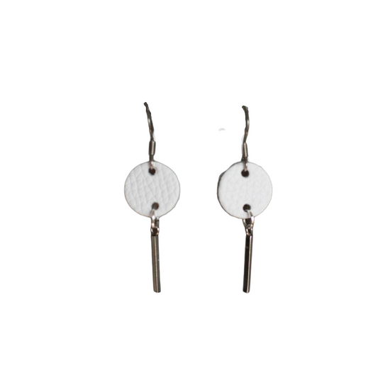White & Silver Mandy Earring