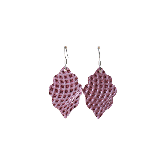 Imperial Purple Signature Mini Leather Earring