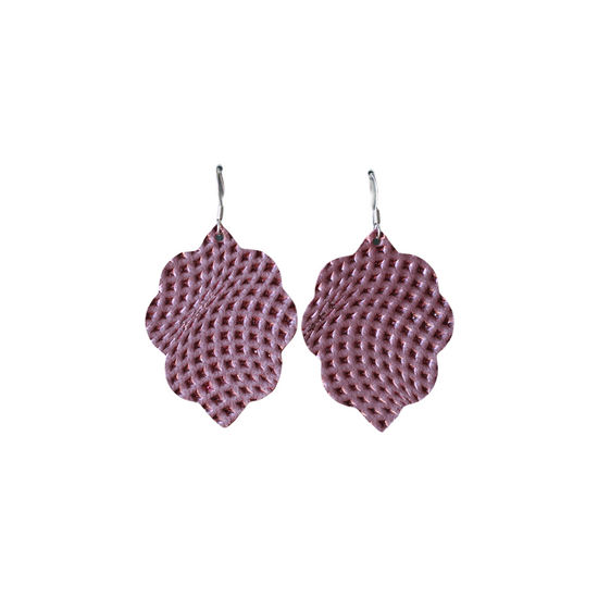 Imperial Purple Small Leather Earring