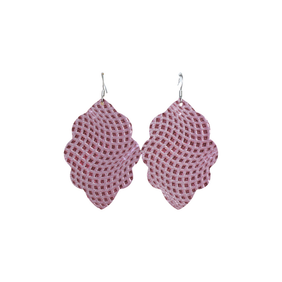 Imperial Purple Large Solid Leather Earring