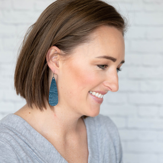 Marine Blue Tear Drop Earring