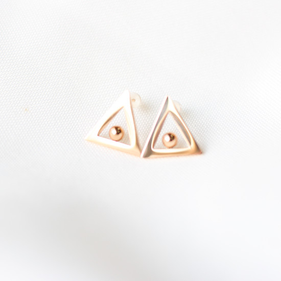 Rose Gold Triangle Stud
