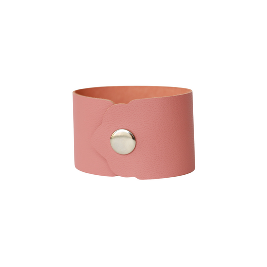 Dusty Coral Leather Cuff