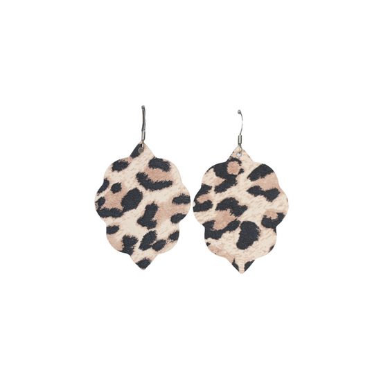 Classic Leopard Small Leather Earring