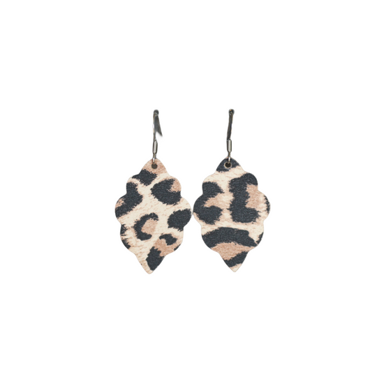 Classic Leopard Signature Mini Leather Earring