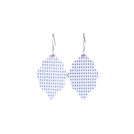 Lavender Signature Mini Leather Earring