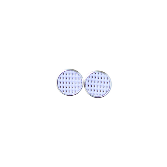 Lavender Leather Stud Earring