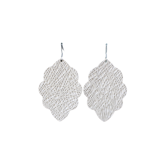 Dune Lux Large Solid Leather Earring