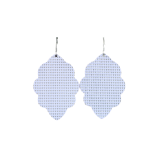 Lavender Large Solid Leather Earring