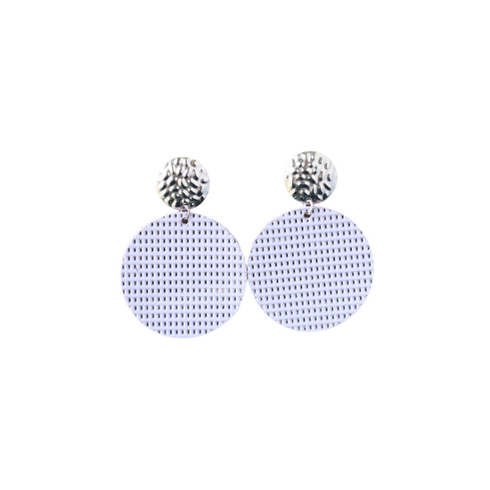 Lavender Leather Halo Earring