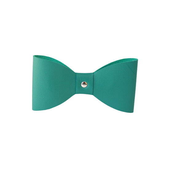 Green Tropic Leather Bow Tie