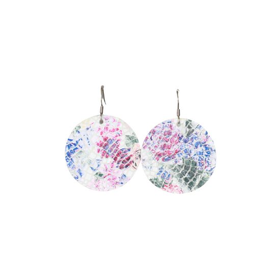 Flower Leather Halo Earring