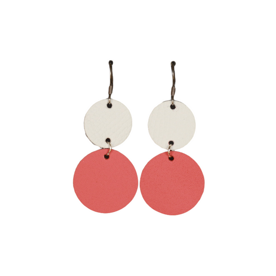 Watermelon Drop Leather Earring