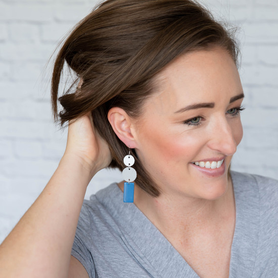 Grey & Blue  Erica Earring