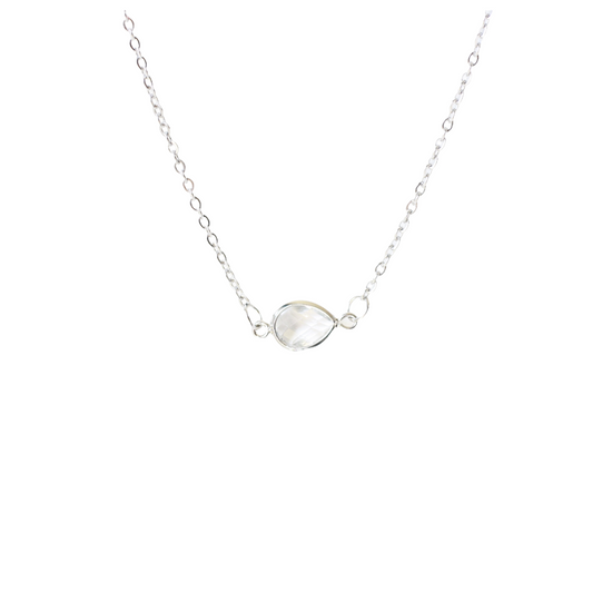 Crystal Tear Drop Necklace