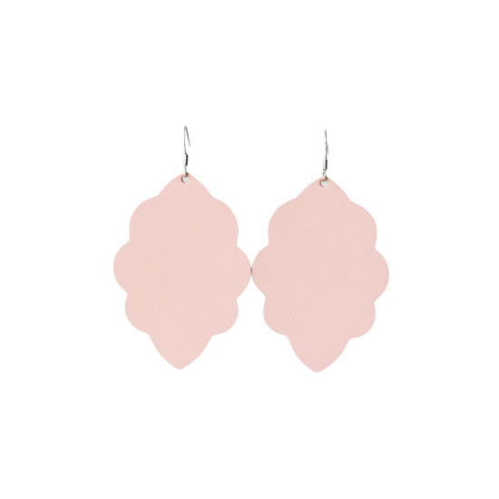 Peach Large Solid Leather Earring