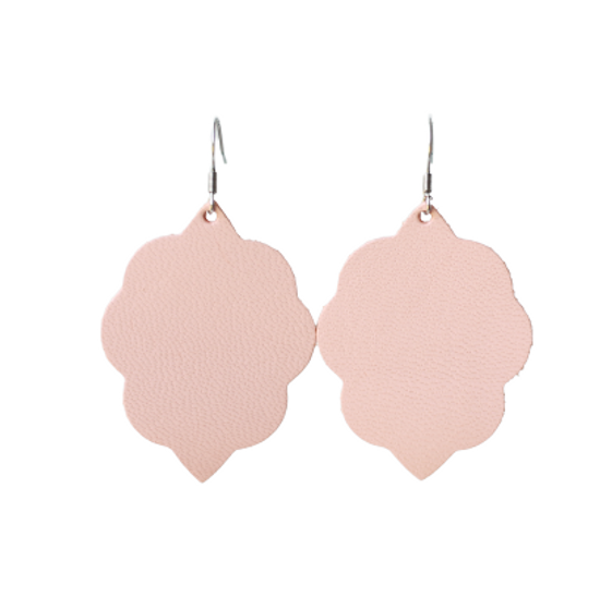 Peach Small Leather Earring