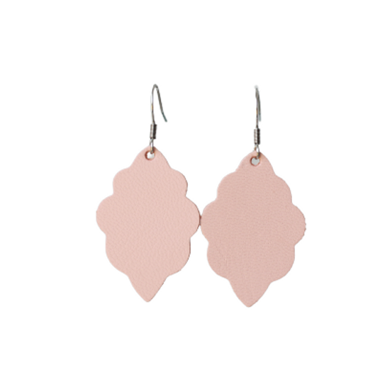 Peach Signature Mini Leather Earring