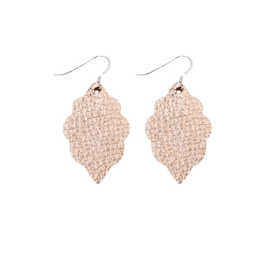 Rose Gold Mini Leather Earring