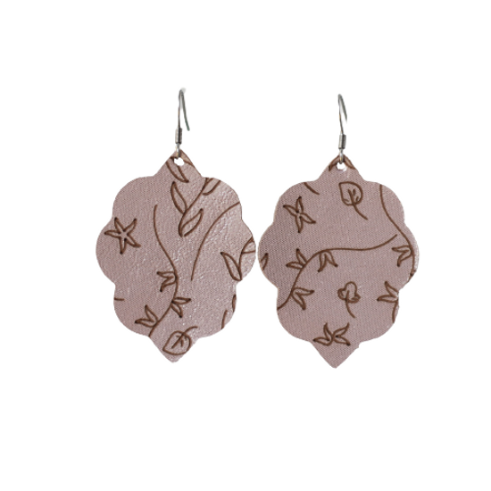 Rosie Glow Small Leather Earring