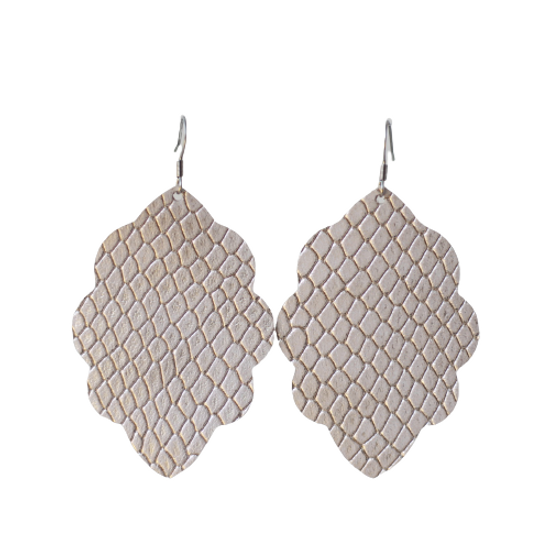 Chiffon Large Solid Leather Earring