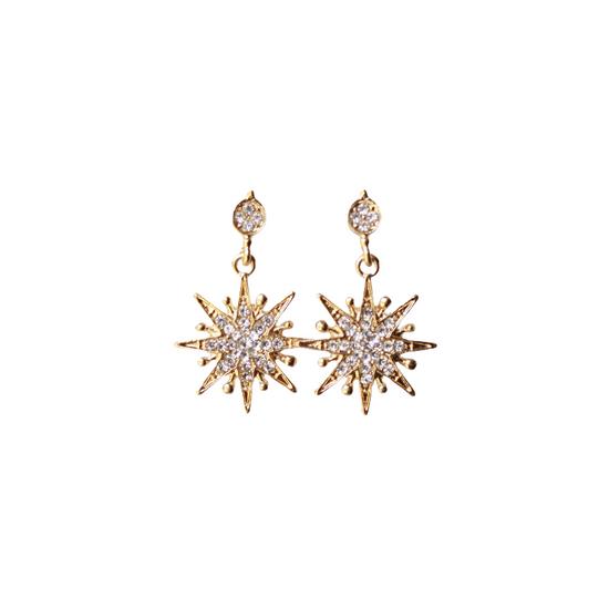 Gold Starburst Earring