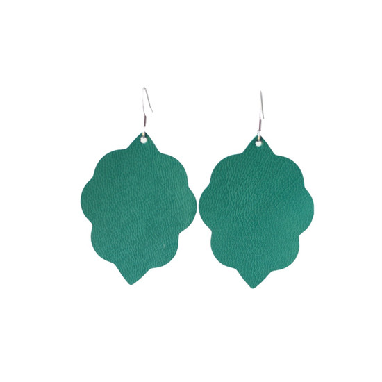 Green Tropic Small Leather Earring