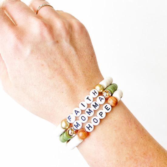 Adult Custom Color Block Beaded Bracelet