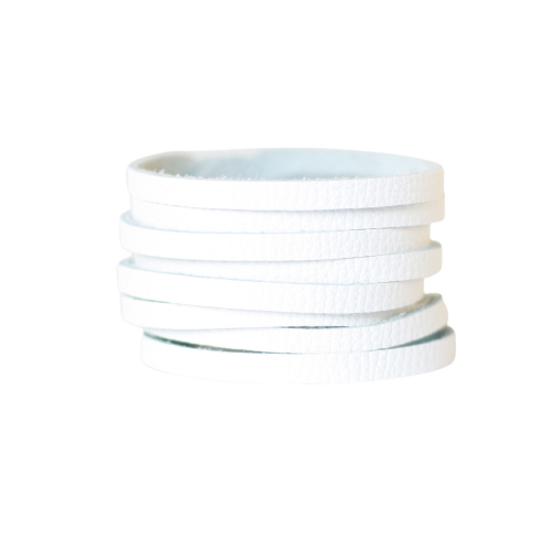 White Slit Cuff Bracelet