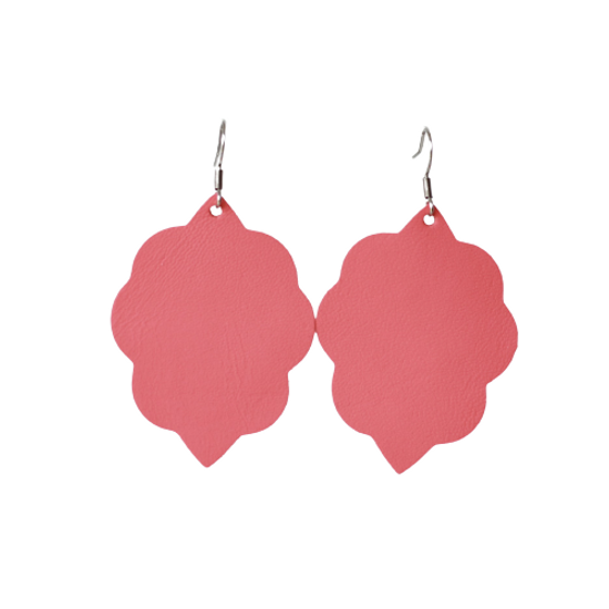 Watermelon Small Leather Earring