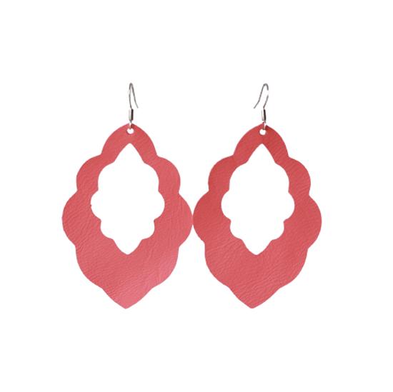 Watermelon Cut-Out Leather Earrings