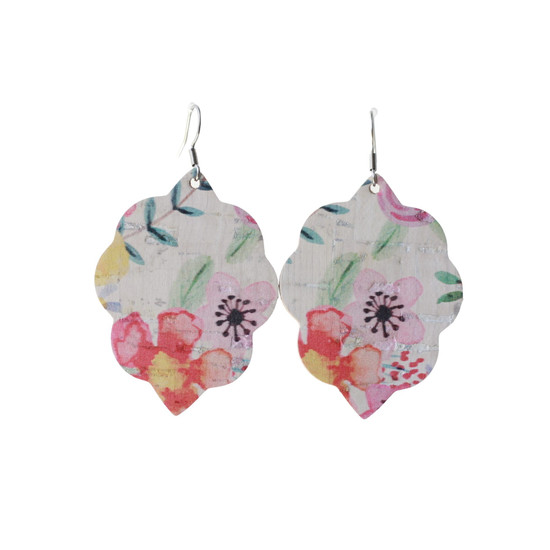 Tropical Bloom Small Leather Earring