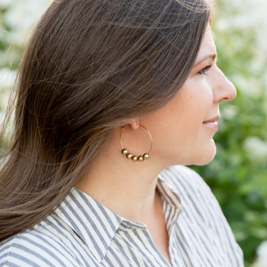 Round Bead Hoops | More Colors