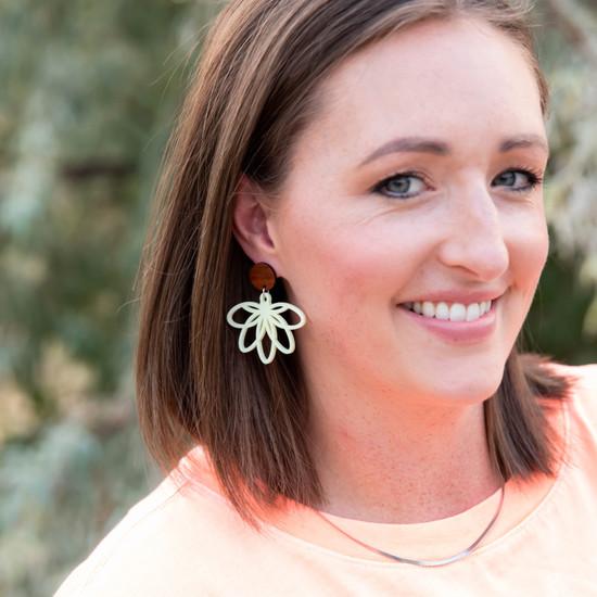Pineapple Petal Earring