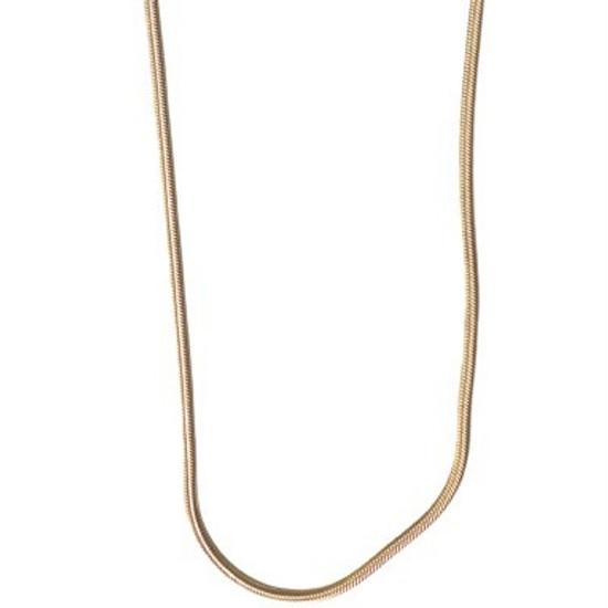 Gold Herringbone Necklace