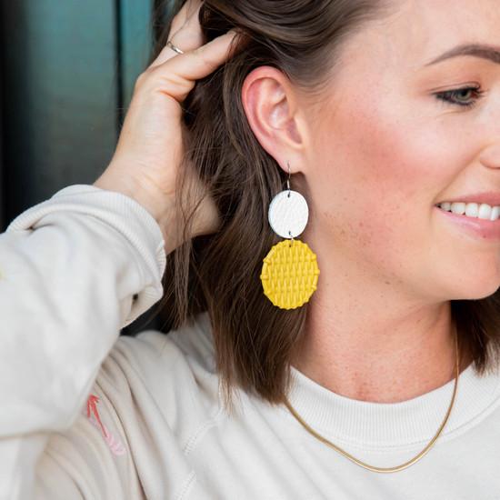 Dandelion Rattan Drop Earring