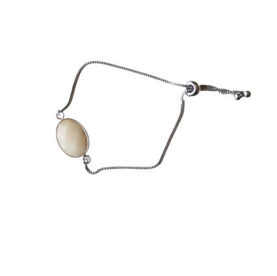 White Jade Slider Bracelet