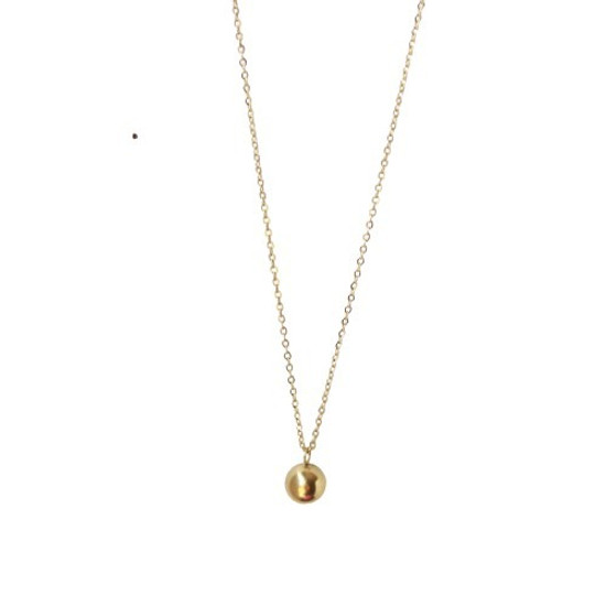 Round Gold Necklace Pendant